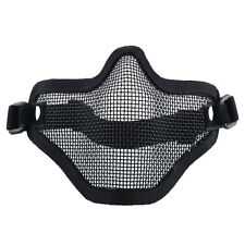 Tactical Airsoft Paintball Strike Bicycle Steel Mesh Half Face Mask Goggles