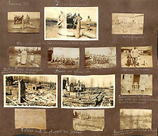MILITARIA GUERRE WAR KRIEG 14/18  PAGES ALBUM PHOTOS RIMBERCOURT MAUCOURT 1917