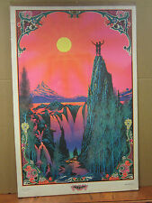 Vintage Garden of Eden black light Poster original  1970 3226