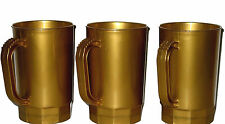 Beer Mugs 1 Pint Steins, Pack 10, Color Pearl Gold , Mfg. USA, Lead Free Durable
