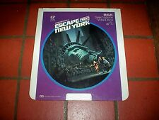 ESCAPE FROM NEW YORK  john carpenter / CED Video Disc Classic RCA SelectaVision