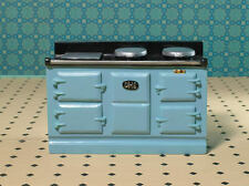 Light Blue Aga Stove , Doll House Miniature, Cooker Kitchen 1.12 Scale