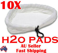 Free 10x white String Pads Floor Steam Mop Pad Steaming Cleaning 24x24x27CM H2O