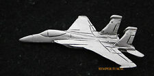 F-15 E EAGLE STRIKE FIGHTER PEWTER LAPEL HAT PIN UP MADE IN US AIR FORCE WING