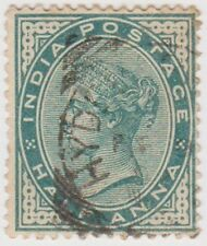 Stamp (I9) 1882 INDIA ½a green QVIC ow84