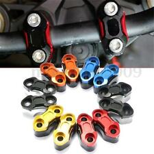 Pair Motorcycle CNC 22mm 7/8 Handlebar Bar Riser Mount Holder Clamp Adaptor