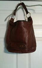 LARGE LADIES FOSSIL BROWN LEATHER HOBO HANDBAG