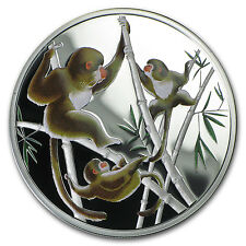 2016 Tokelau 1/2 oz Silver Year of the Monkey Playful in Bamboo - SKU #91588