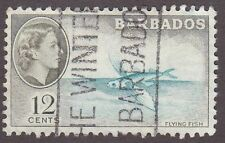 Barbados, 1954, 12c green and blue  SG296, Sc242, used.