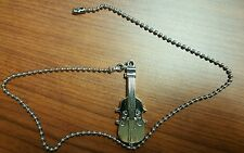 Ceiling Fan / Light Beaded Pull Chain Cord Musical Instrument Violin Brush Steel