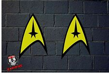 PEGATINA STICKER  ADESIVI AUFKLEBER DECAL 2X  STAR TREK