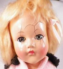Effanbee Anne Shirley Composition Doll Vintage 15 in Great Coloring Some Crazing