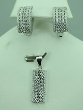 Turkish Handmade Hurrem Sultan 925 Sterling Silver Zircon Ladies' Earring Set