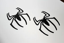 2 x Black Spider Badge Decal Sticker for Kia Picanto Magentis Rio Niro Sorento