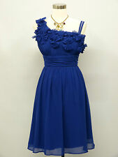 Cherlone Chiffon Blue Prom Ball Evening Wedding Bridesmaid Party Dress 14-16