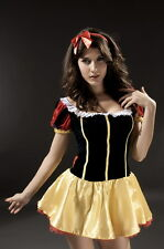Deluxe Snow White Fairy Tale Fancy Dress Costume Perfect for Parties
