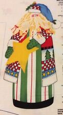 """SANTA Fabric Panel Alma Lynne's Design NEW UNCUT Approximately 18"""" to 20"""" Tall"""