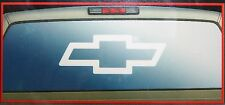 chevy gmc duramax rear window graphics sticker decal  white