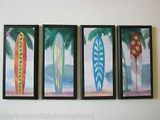 Surfboards 4 beach wall decor plaques surfing signs surfboard surf pictures
