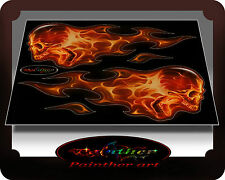 flame sticker skull car motorcycle tank frame atv quad - Painther art