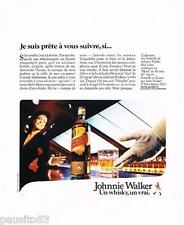 PUBLICITE ADVERTISING 105  1986  Le whisky  JOHNNIE WALKER RED LABEL