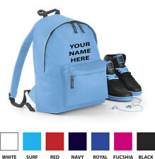 Customised (Embroided) Kids Backpack - Add your own name - For Boys or Girls