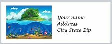 30 Personalized Return Address Labels Under the Sea Buy 3 Get 1 free(c859)