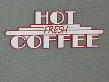 Hot Coffee Sign Vintage Deco Style wall decor Art