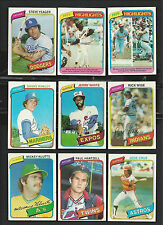 1980 1981 1982 1983 and 1984 TOPPS 40 CARD LOT - COMPLETE YOUR SET - PICK any 40