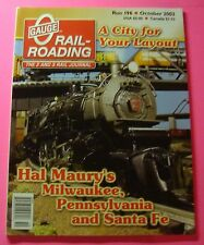 O GAUGE RAIL-ROADING MAGAZINE OCT/2003...A CITY FOR YOUR LAYOUT..