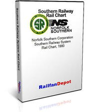 Southern Railway All System Rail Chart - PDF on CD - RailfanDepot