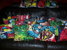 set of 4X marvel/comic/superhero/spiderman/hulk/cushions/bedroom/boys/x-men