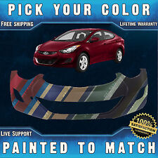 NEW Painted to Match - Front Bumper Cover 2011 2012 2013 Hyundai Elantra Sedan