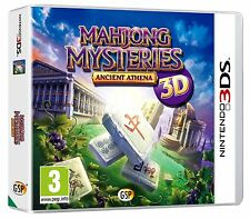 NEW & SEALED MAHJONG MYSTERIES ANCIENT ATHENA 3D NINTENDO 3DS 3DS XL KIDS GAME