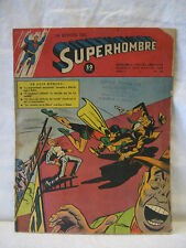 Spanish SUPERMAN #35 Mexico comic magazine BATMAN & ROBIN old 1950 SUPERHOMBRE !