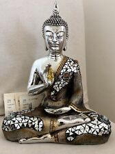 Large Beautifully Detailed Buddhas Statue. Embraced In TOPAZ Swarovski Elements