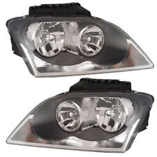 Chrysler Pacifica 04-06 Headlights Headlamps Pair Set of 2 Left & Right