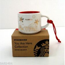 STARBUCKS Coffee You Are Here Espresso Mini Mug Ornament YAH FLORIDA Christmas