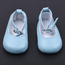 Fashion Light Blue Rubber Shoes For 18 Inch American Girl Doll Toy Set Kids Gift