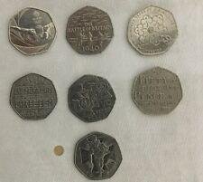Set of 7 rare 50p coins Including a Team GB 50p Coin