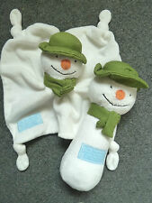 The Snowman & The Snow Dog Exclusively Designed for M&S Comfort Blankie & Rattle