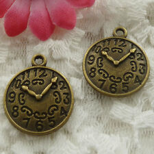Free Ship 150 pieces bronze plated clock charms 23x19mm #737