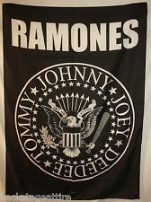 "Ramones Eagle Tommy Joey Johnny Deedee 29""X43"" Cloth Fabric Poster Flag-New!"