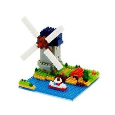 NANO BLOCKS MOLEN KINDERDIJK-ELSHOUT WINDMILL MINI BRICKS PUZZLE NANOBLOCK