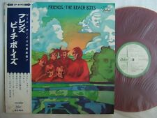PROMO WHITE LABEL RED VINYL / THE BEACH BOYS FRIENDS / WITH OBI