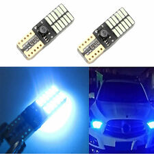 2x Car Auto T10 W5W 4014 marker 24 LED Canbus Side Light Lamp Glace bleue