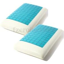 2 Pcs Luxury Gel 100%  Memory Foam Orthopedic Firm Pillows Comfort Cooling Pad