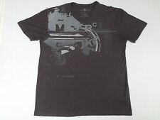 MARC ECKO CUT & SEW ABSTRACT METALLIC GRAPHICS - XL GRAY V NECK T-SHIRT - E1042