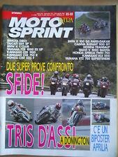 MOTOSPRINT n°32-33 1991 con Maxi doppio Poster Aprilia Pierfrancesco Chili [P75]