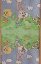 Baby Looney Tunes Fabric - Cloud Blue - Sylvester Tweety Bugs - 3 pieces - #105